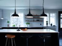 Design Pendelleuchte, moderne Pendellampe mit drei Lampenschirmen, Ø 30 cm