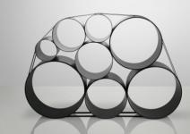Designer Regalsystem in schwarz