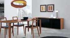 Modernes, design Sideboard mit Glastüren in zwei Farben, 190 cm Breit