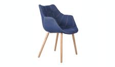 Designerstuhl mit Kunstleder bezogen, gepolstert