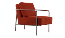 Designersessel aus Kordgewebe in orange