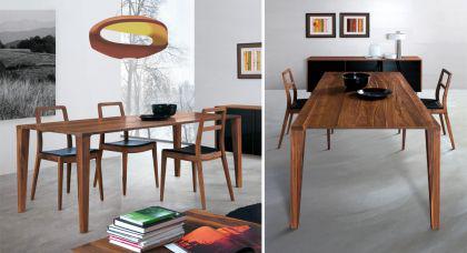 moderner esstisch, walnuss massiv, 180 cm länge - kaufen bei, Esstisch ideennn