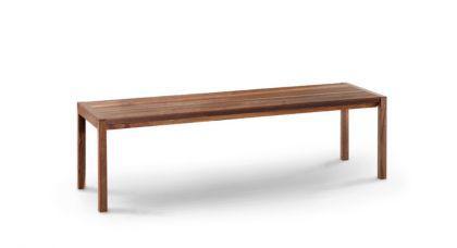 3er sitzbank aus massivholz walnuss l nge 155 cm. Black Bedroom Furniture Sets. Home Design Ideas
