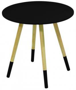 Design Beistelltisch Dreifuß aus Holz, Farbe schwarz