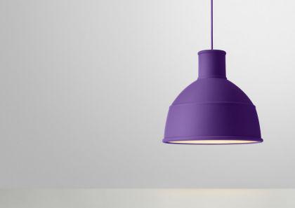 Designer Pendelleuchte in violett
