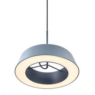 Pendelleuchte Metall PVC grau LED