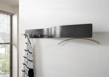 Wandgarderobe garderobe mit sechs doppelhaken breite 110 for Breite garderobe