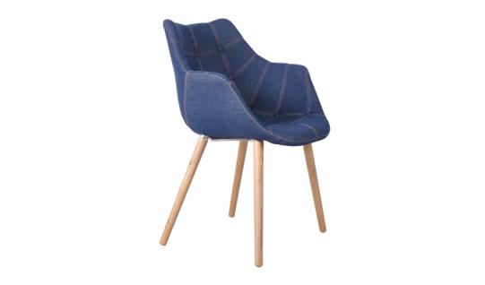 Designerstuhl mit Kunstleder bezogen,gepolstert