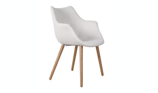 Designerstuhl mit Kunstleder bezogen, gepolstert in weiß