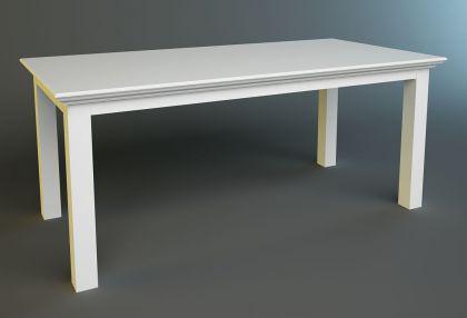 esstisch aus massivholz in weiss im landhausstil 180 cm. Black Bedroom Furniture Sets. Home Design Ideas