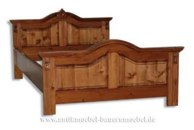 bett doppelbett landhausstil kaufen bei country bohemia s r o individuelle m bel nach mass. Black Bedroom Furniture Sets. Home Design Ideas