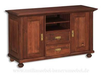 Phonoschrank TV- Schrank Anrichte Halbschrank Holz Massiv Landhaus -stil / möbel