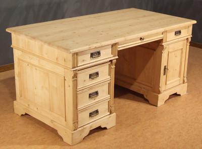 Schreibtisch Computertisch Tisch Arbeitstisch Gründerzeit Landhausstil massiv