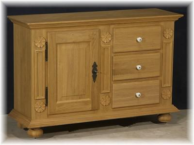 eichen halbschrank anrichte sideboard landhausstil kaufen bei country bohemia s r o. Black Bedroom Furniture Sets. Home Design Ideas