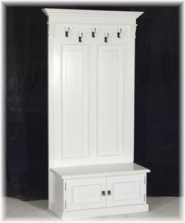 garderobe wandgarderobe garderobenschrank landhausstil. Black Bedroom Furniture Sets. Home Design Ideas