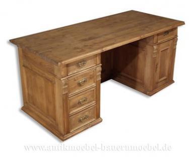 schreibtisch arbeitstisch computertisch b ro pc tisch holz massiv landhausstil kaufen bei. Black Bedroom Furniture Sets. Home Design Ideas