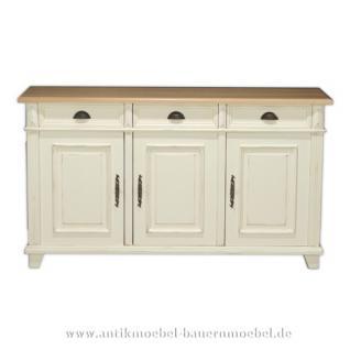 sideboard anrichte kommode wei shabby chic landhausstil kaufen bei country bohemia s r o. Black Bedroom Furniture Sets. Home Design Ideas