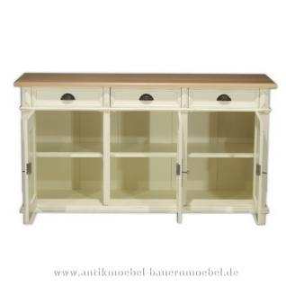sideboard anrichte kommode wei shabby chic landhausstil kaufen bei country bohemia s r o. Black Bedroom Furniture Sets. Home Design Ideas