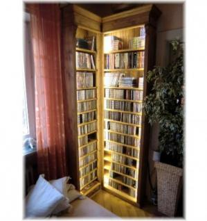 cd dvd eck regal b cherregal ohne led beleuchtung landhausstil kaufen bei country bohemia s r. Black Bedroom Furniture Sets. Home Design Ideas