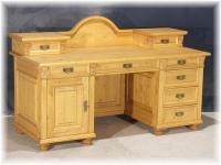 Schreibtisch Arbeitstisch mit Aufsatz Landhaussti massiv