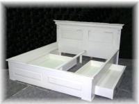 Bett 180x200 Holz Doppelbett Massiv Landhausstil weiss Gründerzeit Shabby Chic