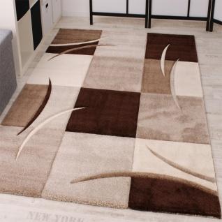 designer teppich mit konturenschnitt karo muster braun beige - Wohnzimmer Beige Karo