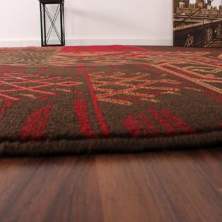 Moderner Designer Teppich Muster Rot Braun Patchwork - Kaufen bei ...
