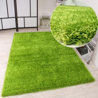 Kinderteppich grün rund  Hochflor Shaggy Teppich Grün günstig online kaufen - Yatego
