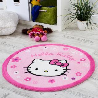 Hello Kitty Teppich Kinderzimmer Teppich Rund mit Blumen Rosa Pink