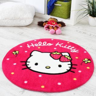 Hello Kitty Teppich Kinderzimmer Teppich Rund mit Schmetterlingen Rosa Pink
