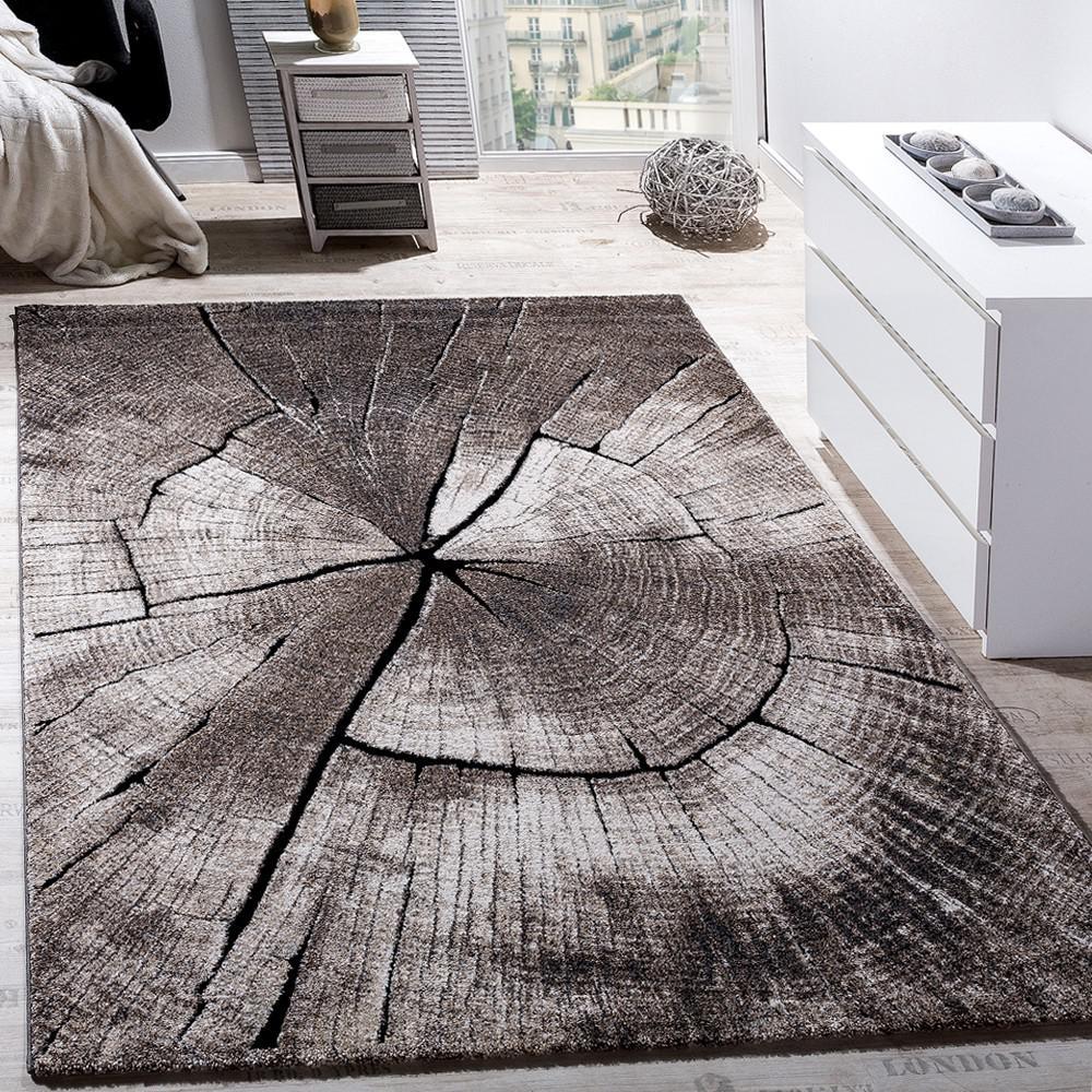 Edler designer teppich wohnzimmer natur asphalt optik natur braun ...