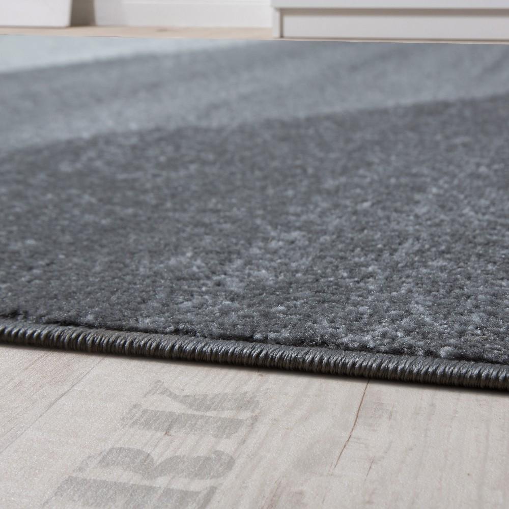 Kurzflor teppich  Designer Teppich Kurzflor Teppich Modern Abstrakte Halbkreise ...