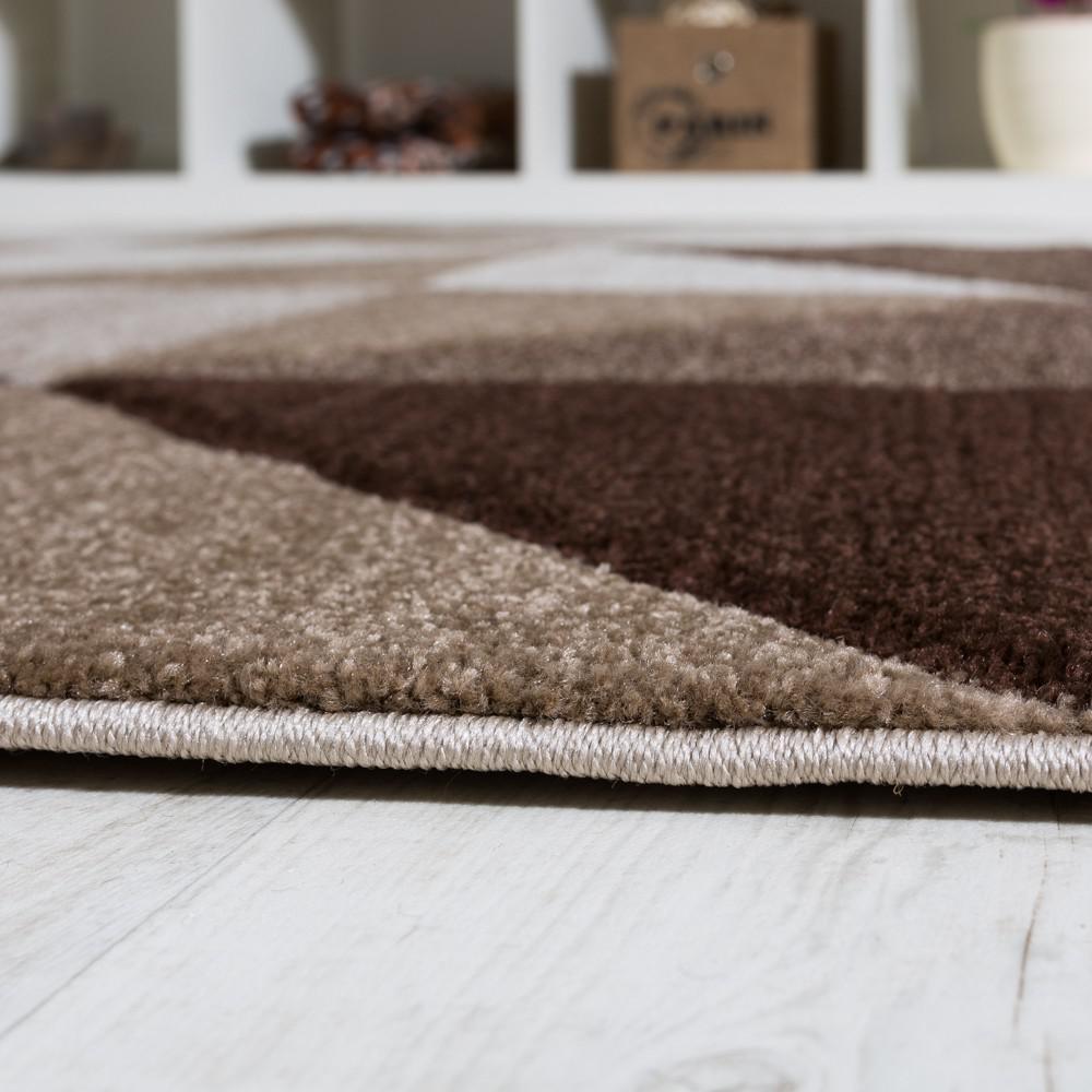 Wohnzimmer teppich piramid design modern braun beige ausverkauf ...
