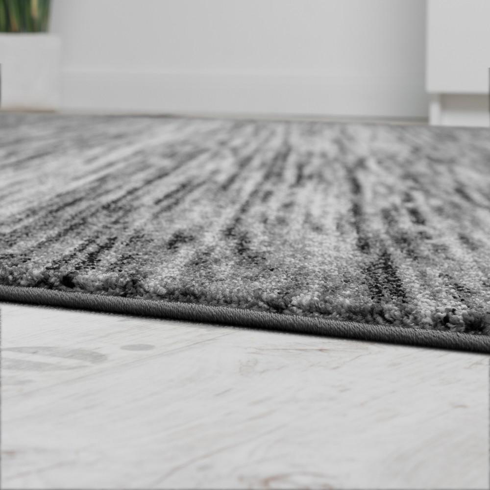 teppiche modern wohnzimmer teppich spezial melierung grau. Black Bedroom Furniture Sets. Home Design Ideas