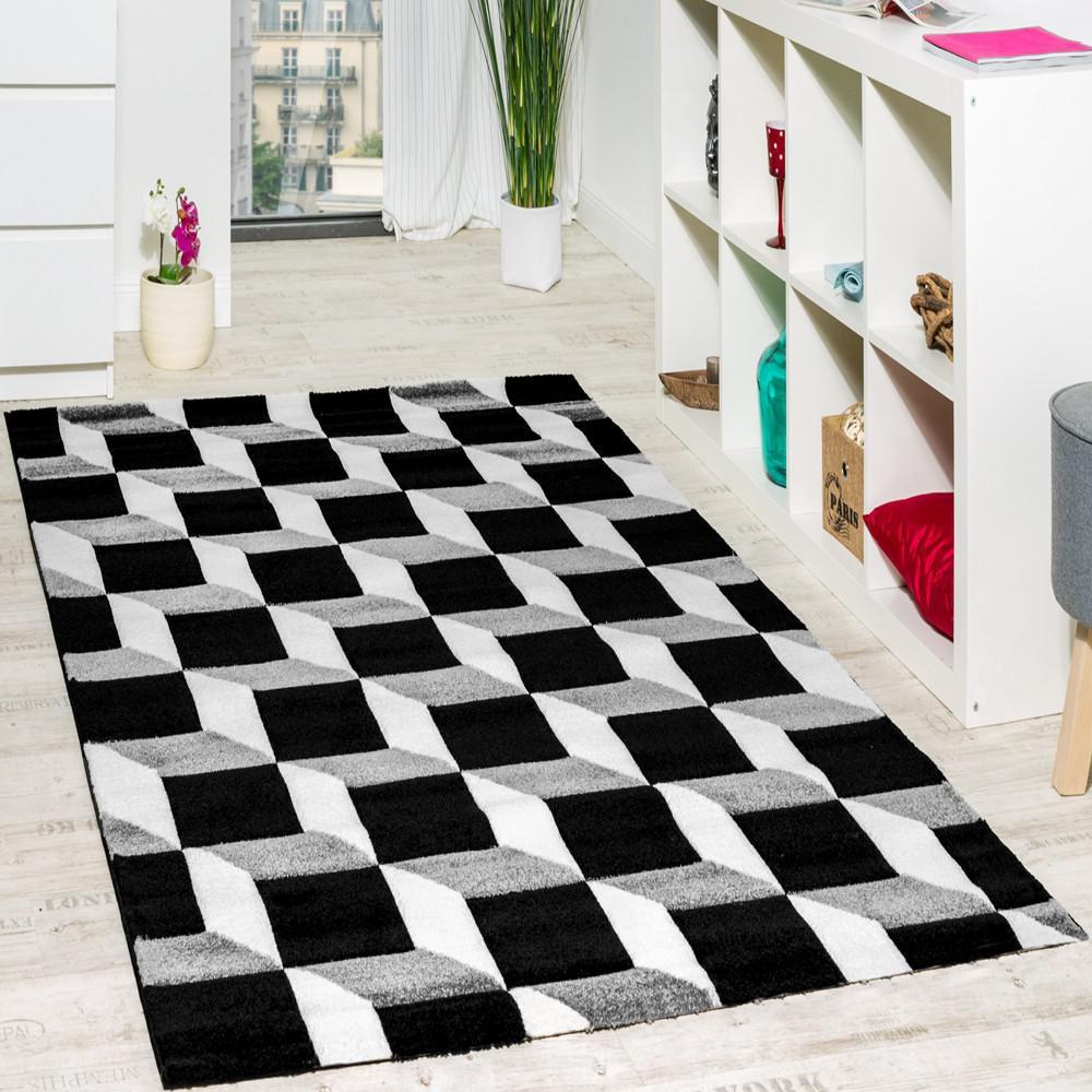 wohnzimmer teppich geo design w rfel muster grau creme ausverkauf kaufen bei diva teppich center. Black Bedroom Furniture Sets. Home Design Ideas