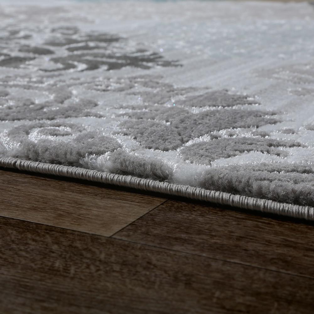 Designer teppich wohnzimmer konturenschnitt mit barock muster ...