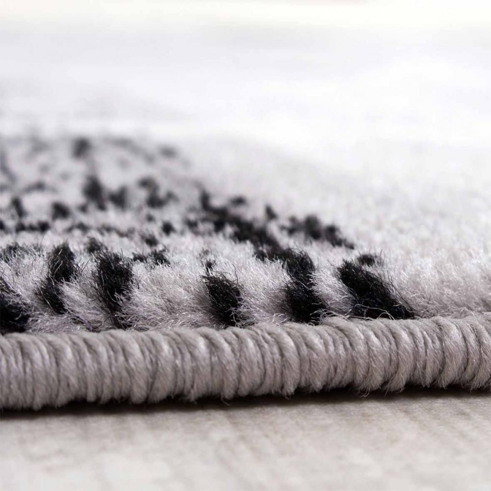 wohnzimmer creme grau:Designerteppich Wohnzimmer Teppich Retro Stil Shabby Chic Grau Creme