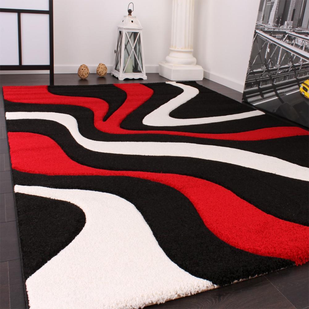 awesome wohnzimmer schwarz rot gallery