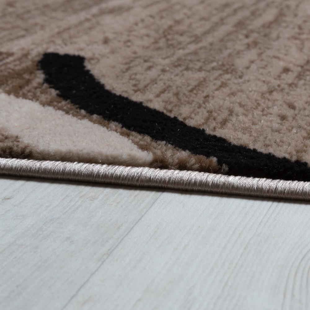 Wohnzimmer teppich bordüre kurzflor meliert modern hochwertig grau ...