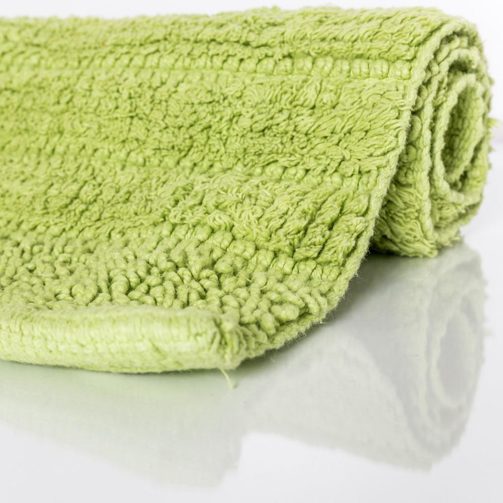 badematte badteppich badezimmerteppich aus baumwolle einfarbig in gr n kaufen bei diva teppich. Black Bedroom Furniture Sets. Home Design Ideas