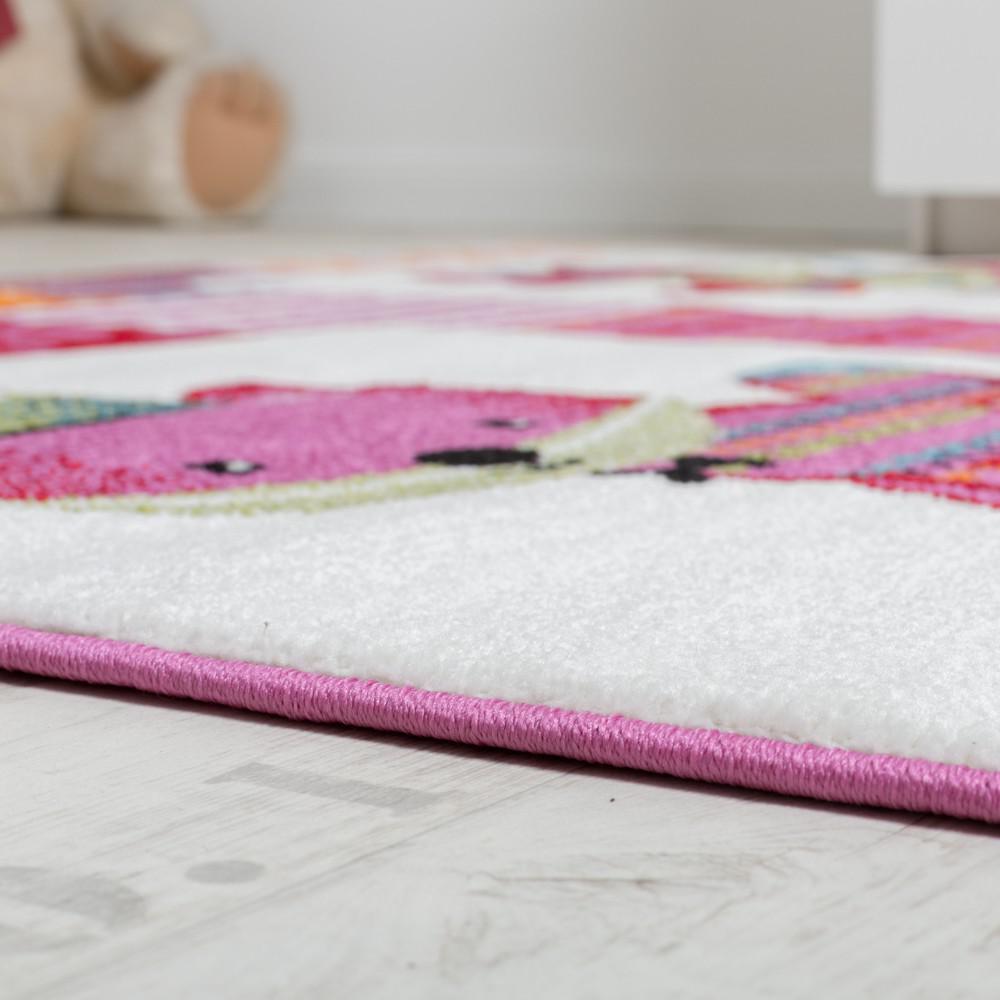 teppich kinderzimmer niedliche f chse kinderteppich fuchs mehrfarbig pink creme kaufen bei. Black Bedroom Furniture Sets. Home Design Ideas