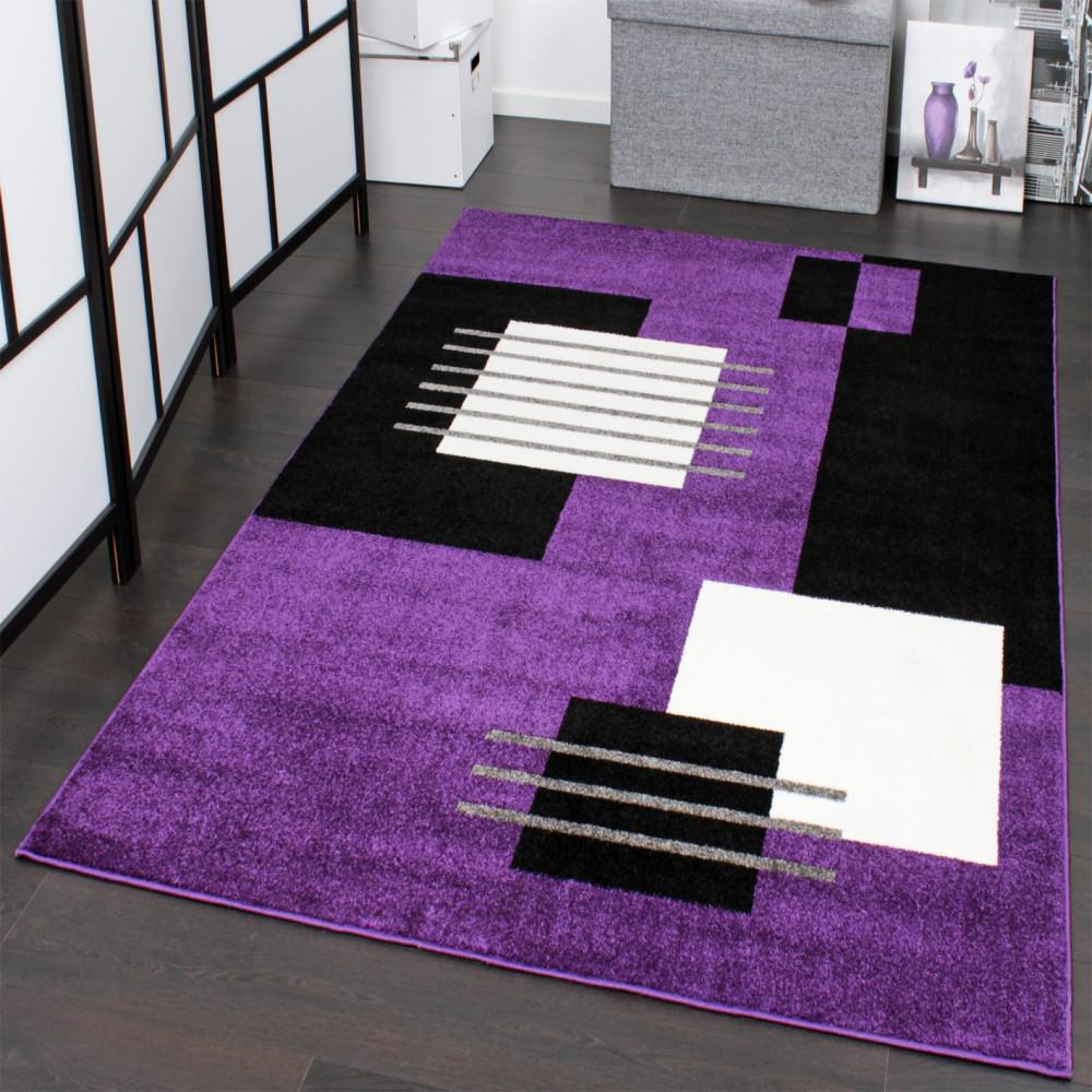 Designer teppich wohnzimmer kurzflor mehrfarbig gestreift braun ...