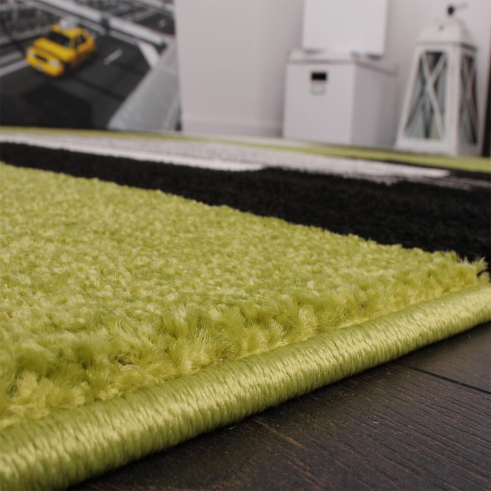 Designer teppich modern karo in grün schwarz weiss top qualität ...