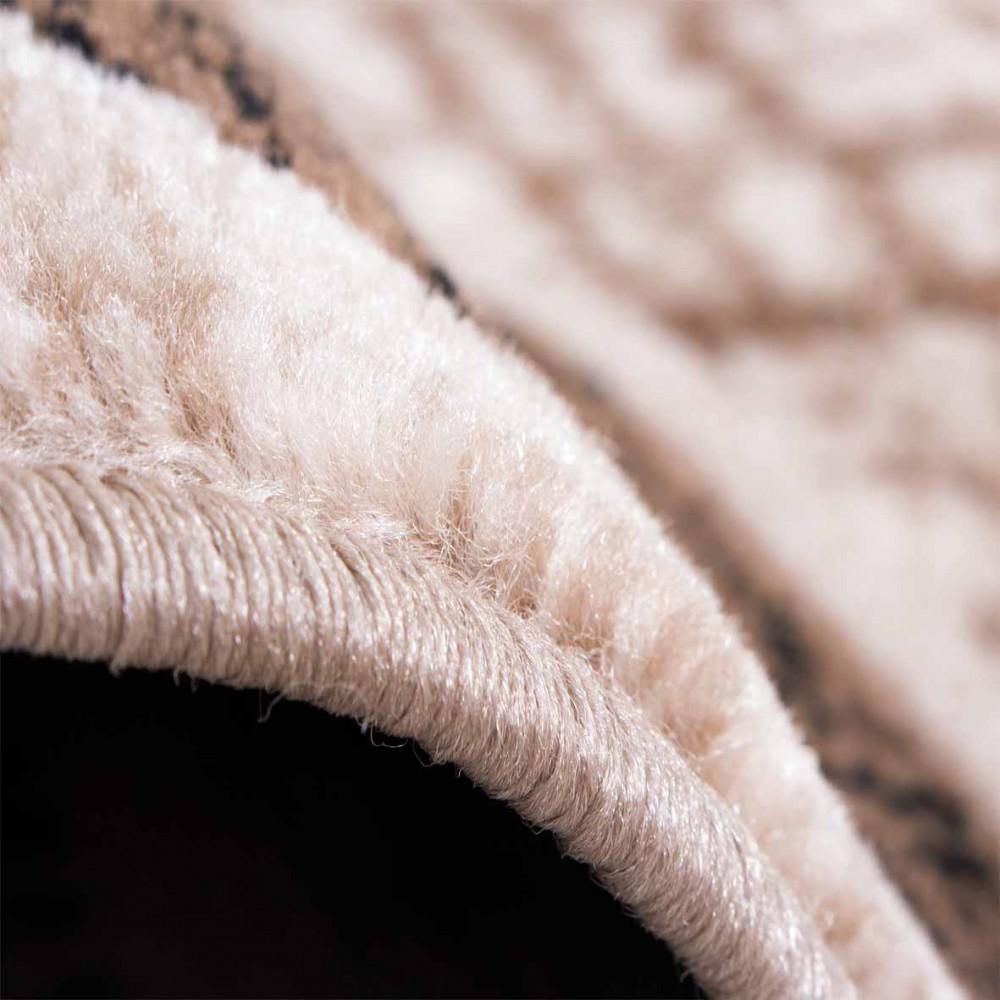 Designer teppich wohnzimmer teppich retro muster in braun beige ...