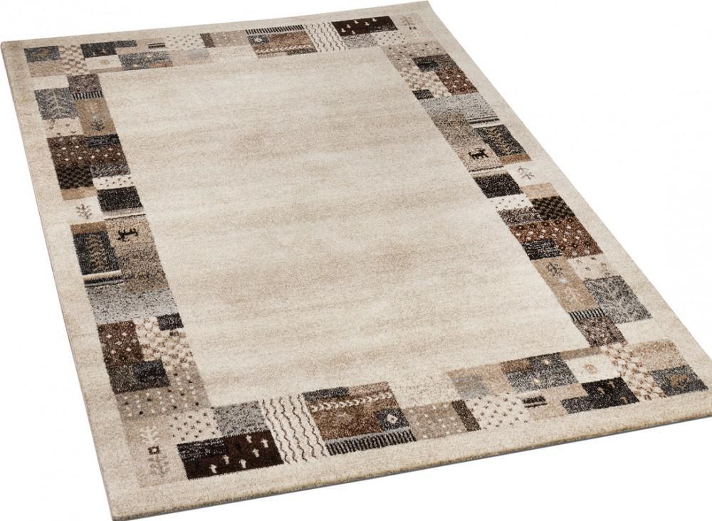 Designer Teppiche Modern Loribaft mit Bordüre Nomaden Teppich ...