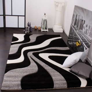 teppiche schwarz weiß grau online kaufen bei yatego - Wohnzimmer Teppich Schwarz Weis
