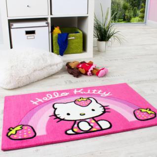 Hello Kitty Teppich Kinderzimmer Teppich Regenbogen in Pink und Rosa