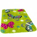 Decke Kinderdecken Schmetterlinge Grün Rosa Butterfly Kuscheldecke Spieldecke