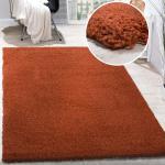 Shaggy Hochflor Langflor Teppich Kupfer Farbe Ausverkauf Hammer Preis
