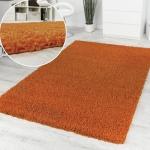 Shaggy Orange Hochflor Langflor Teppich Einfarbig Top Aktion zum Hammer Preis